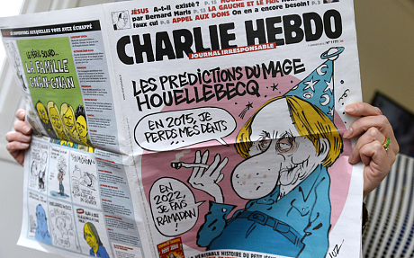 The previous issue of the French satirical newspaper Charlie Hebdo